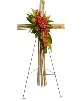 """Heartfelt Memories & Love"" - Standing Memorial Cross Design"