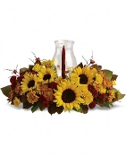 """Thanksgiving Blooms"" - Fresh Flower Arrangement - Deluxe"