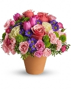 """Beautiful Rustic Blooms"" - Fresh Flower Arrangement"